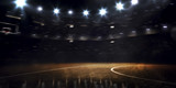 Fototapeta Sport - Grand basketball arena in the dark spot light © 103tnn