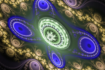 Animated fractal frequency space universe galaxy psychedelic music or for any other concept. Geometric patterns.
