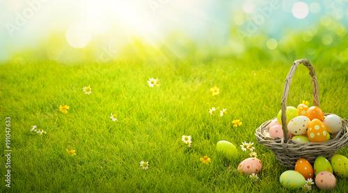Deurstickers Gras Easter