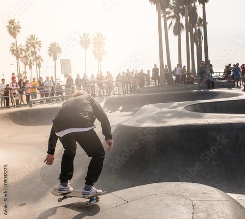 Fotobehang Skateboard skate park in Venice Beach