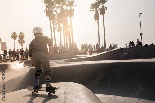 Aluminium Skateboard Skate Park in Los Angeles