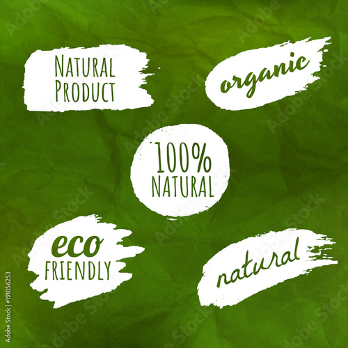 Green Background With Natural Labels - 191056253