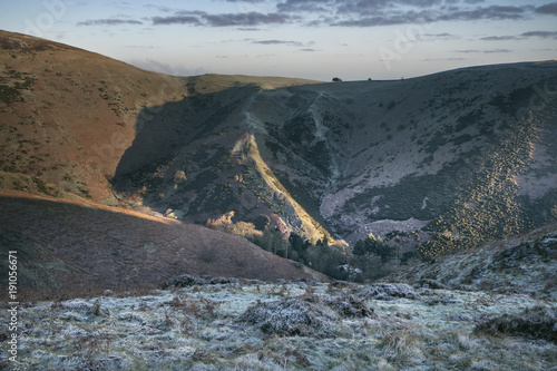 Foto op Plexiglas Grijs Rural Carding Mill Valley, The Long Mynd