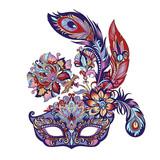 carnival blue mask  - 191062619