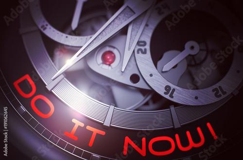 Do IT Now on Luxury Watch Mechanism. 3D.