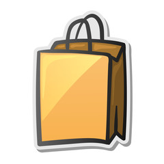 Shopping bag icon sticker