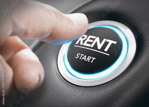 Car or Motorhome Rental Concept, Rent a Vehicle. - 191079466