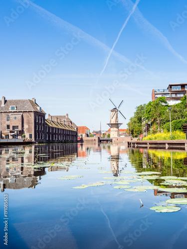 Poster Rotterdam Windmühle in Schiedam, Rotterdam, Niederlande, Europa