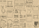 Fast Food Restaurant Placemat - 191090867