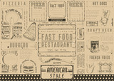 Fast Food Restaurant Placemat - 191091073