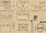 Fast Food Restaurant Placemat - 191091687