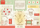 Fast Food Restaurant Placemat - 191091849