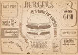 Burger Placemat on Craft Paper - 191092678