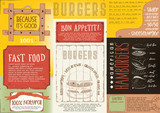 Burger Placemat on Craft Paper - 191094455
