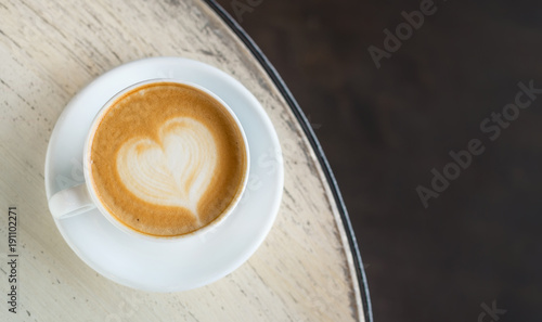 Cup with coffee on the table. Concept and idea for resting time