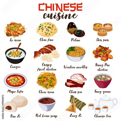 Chinese Food Cuisine Illustration
