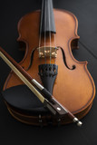 old Violin with bow ...