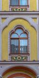 Detail from Hotel Astoria-former Sztarill Palace-located in Ferdinand Square, Oradea, Romania - 191108292