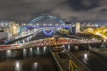 Newcastle and Gateshead Quayside from The high Level Bridge