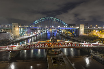 Newcastle and Gateshead Quayside from The high Level Bridge