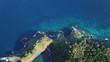 Coastline and sea, aerial photo