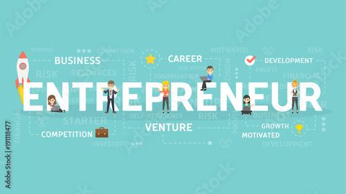 Entrepreneur concept illustration.