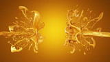 A splash of caramel. 3d illustration, 3d rendering.