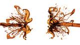 A splash of tea. 3d illustration, 3d rendering.