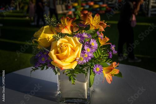 Yellow bouquet centerpiece