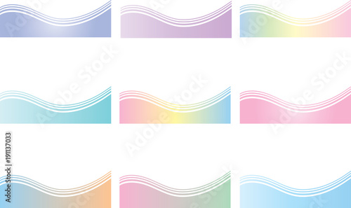 Deurstickers Abstract wave bolders3