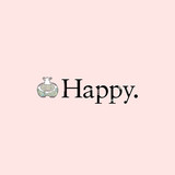 Cute hippo with crazy patterns next to the word happy on a pink background vector illustration. - 191138062