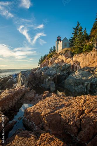 Fotobehang Vuurtoren Bass Harbor Head Lighthouse