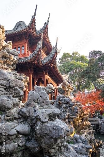 Foto op Canvas Shanghai Yu Yuan Garden - Oriental Rooftop - anglular roof