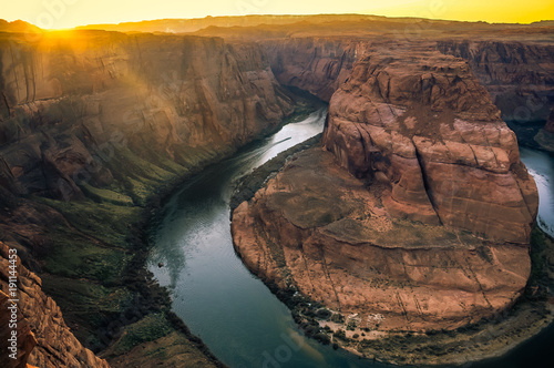 Fotobehang Arizona Horseshoe Bend Sunset