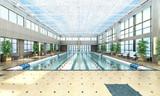 swimming pool interior 3d render image - 191151628