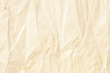 Crumpled brown background paper texture - 191153822
