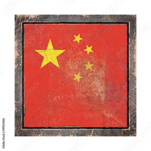 Fotobehang Peking Old China flag