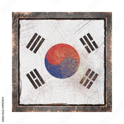 Keuken foto achterwand Seoel Old South Korea flag