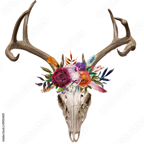 deer-skull-with-floral-wreath