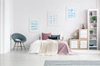 Quadro Armchair in pastel bedroom interior