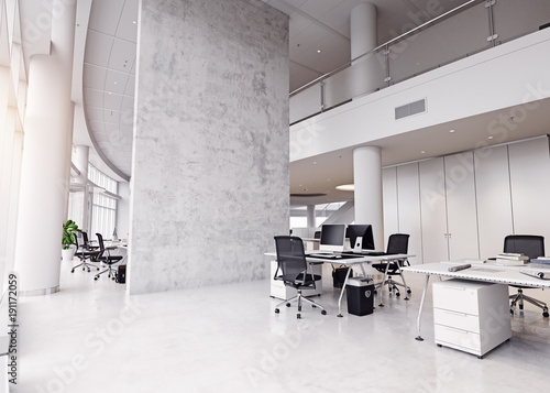 modern office building interior.