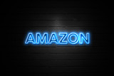 Amazon neon Sign on brickwall