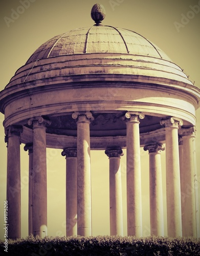 ancient temple with Dome with old effect