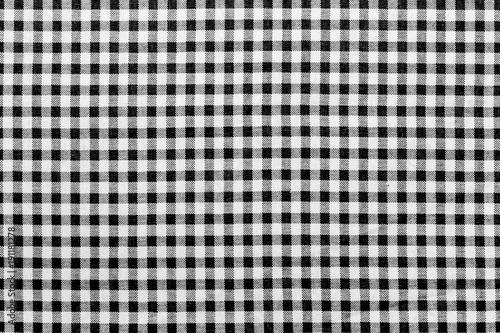 tissu Vichy à petits carreaux noirs et blancs