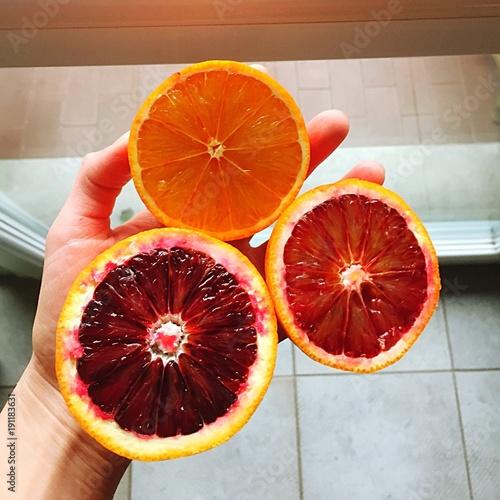 tre tipi di arancia rossa