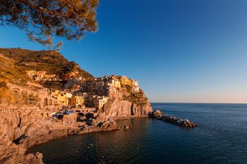 Sunset in Manarola, Cinque Terre, Liguria, Italy