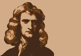 Newton - savant - portrait - personnage historique - astronome - mathématicien - physicien