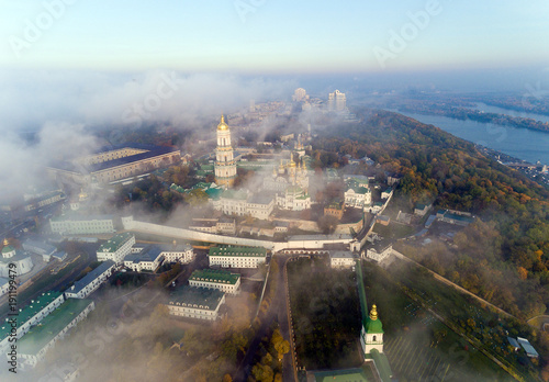 Fotobehang Kiev AERIAL view of the Kiev-Pechersk Lavra in Kiev. Ukraine