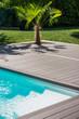 terrasse jardin piscine - 191202418