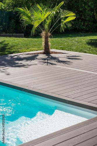 terrasse jardin piscine